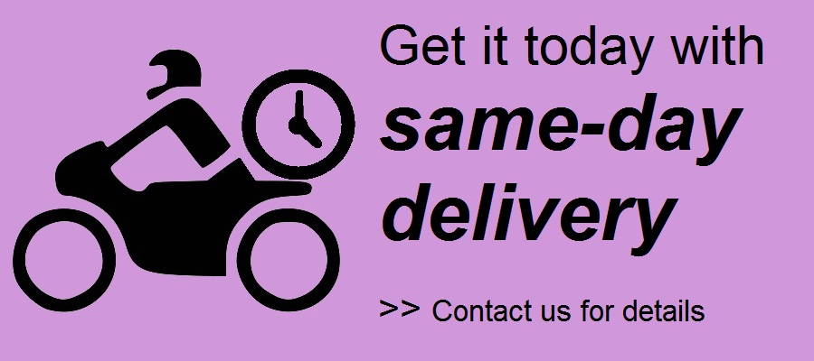logo same day delivery purple wording
