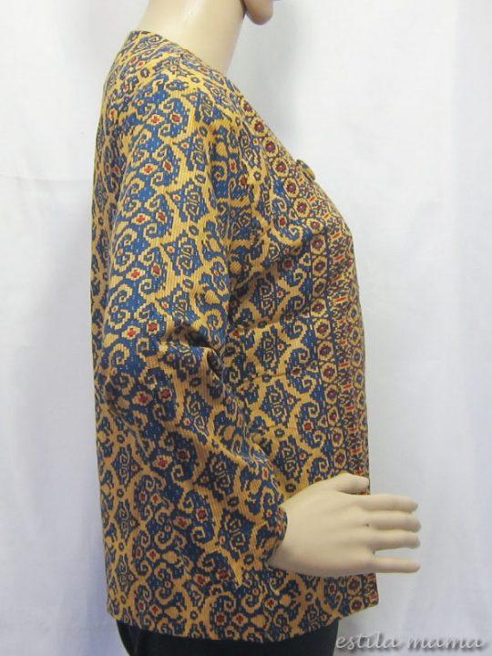 B2511 gb2 bolero batik biru terang