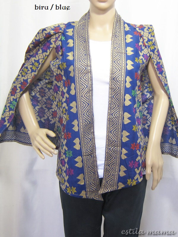 Laksmi Blazer katun batik cape slevee lengan panjang  f32523876c