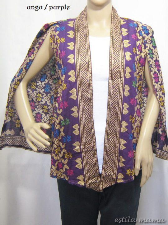 B2513 gb8 bolero batik ungu