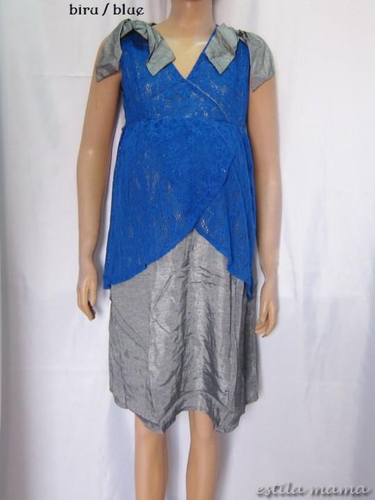 M3325 gb1 dress hamil biru