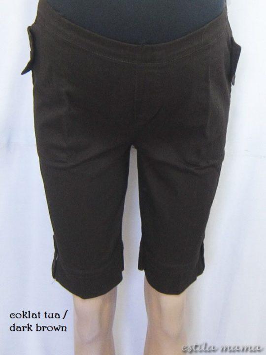 M7685 gb1 celana hamil coklat tua