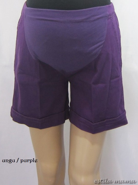 M7687 gb7 celana hamil pendek ungu