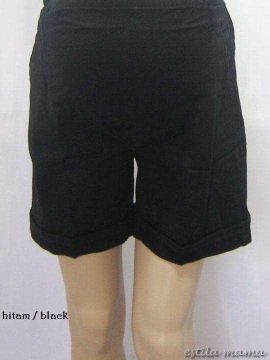 M7687 gb9 celana hamil pendek hitam