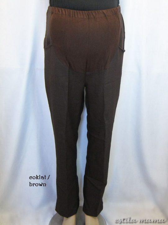 M77109 gb4 celana hamil pjg coklat