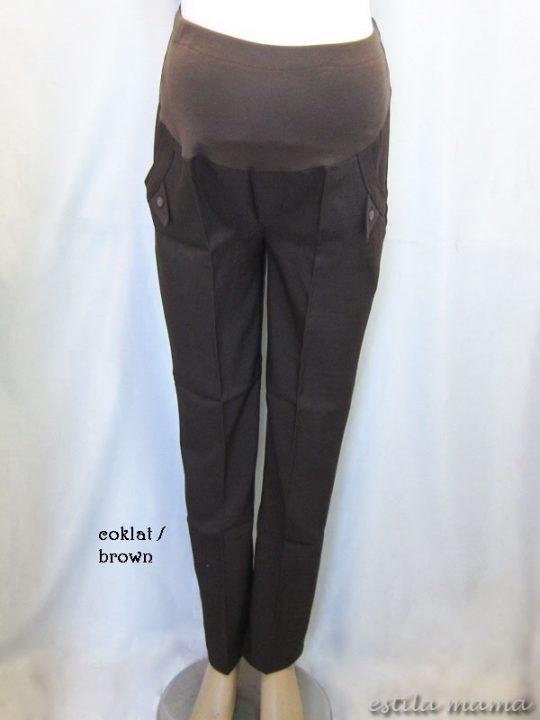 M77111 gb1 celana hamil pjg coklat