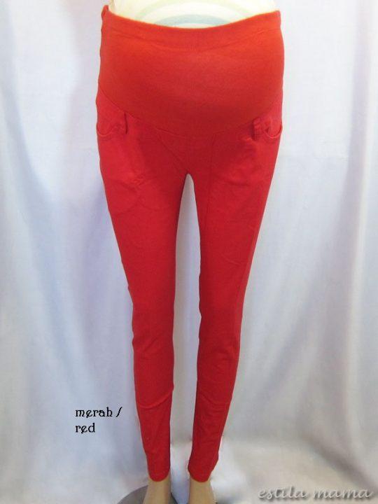 M7792 gb1 celana hamil pjg merah