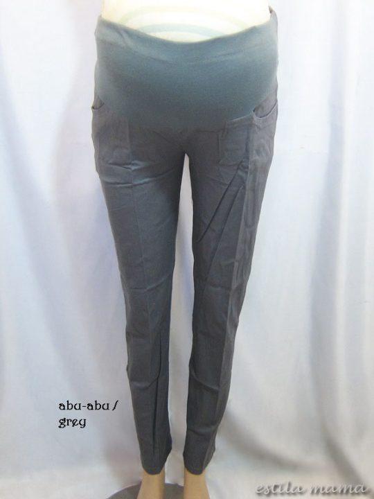 M7793 gb1 celana hamil pjg abu-abu