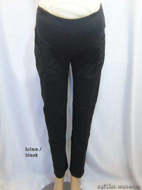 M7793 gb6 celana hamil pjg hitam