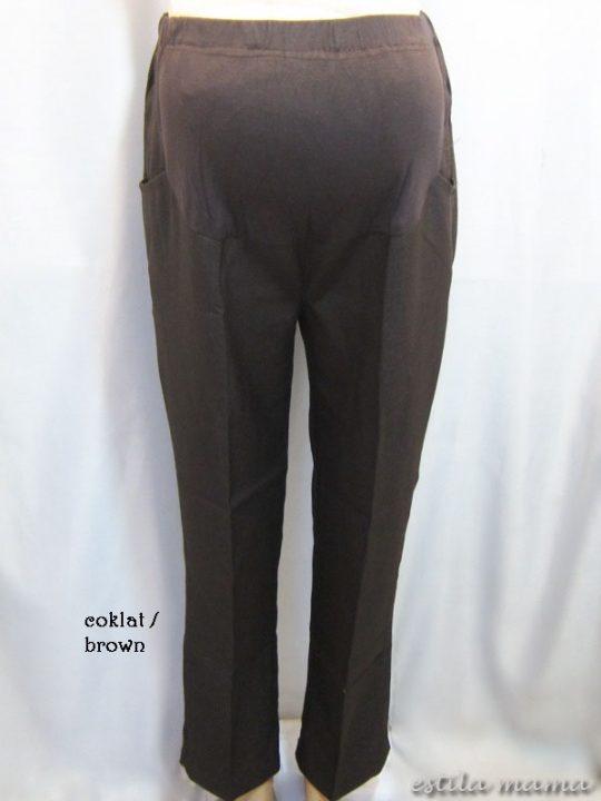 M7797 gb1 celana hamil pjg coklat