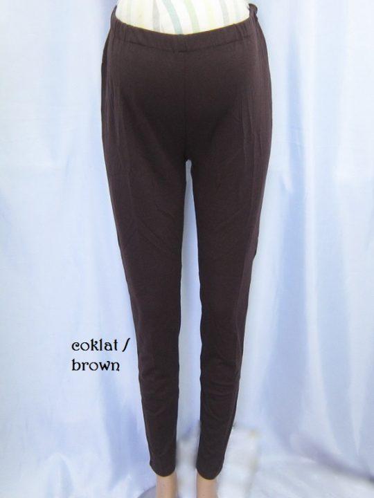 M8714 gb4 legging hamil pjg coklat