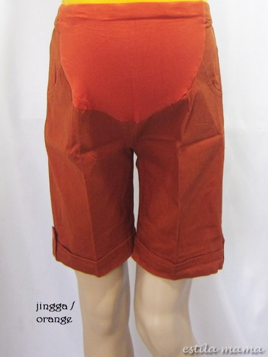 M7680 gb1r celana hamil jingga