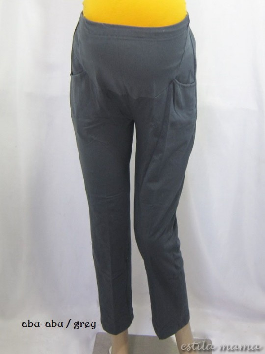 M8724 gb5 celana panjang hamil abu-abu
