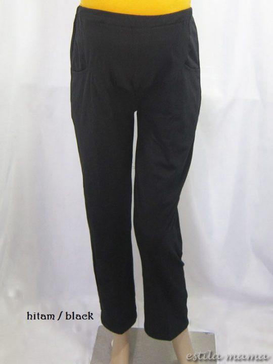 M8724 gb6 celana panjang hamil hitam