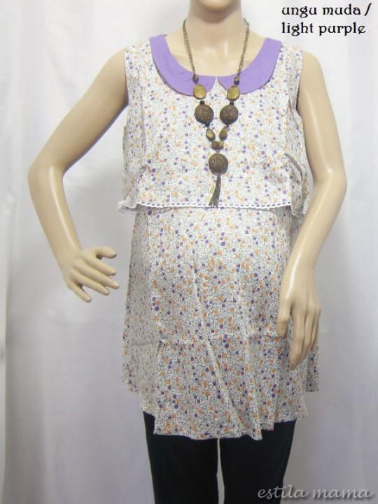 R2319 gb7 baju hamil menyusui ungu muda
