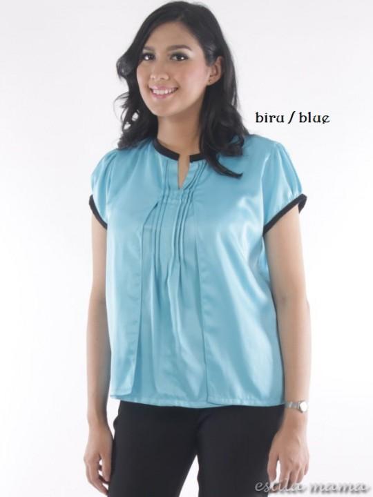 R24101 gb1 baju hamil menyusui biru