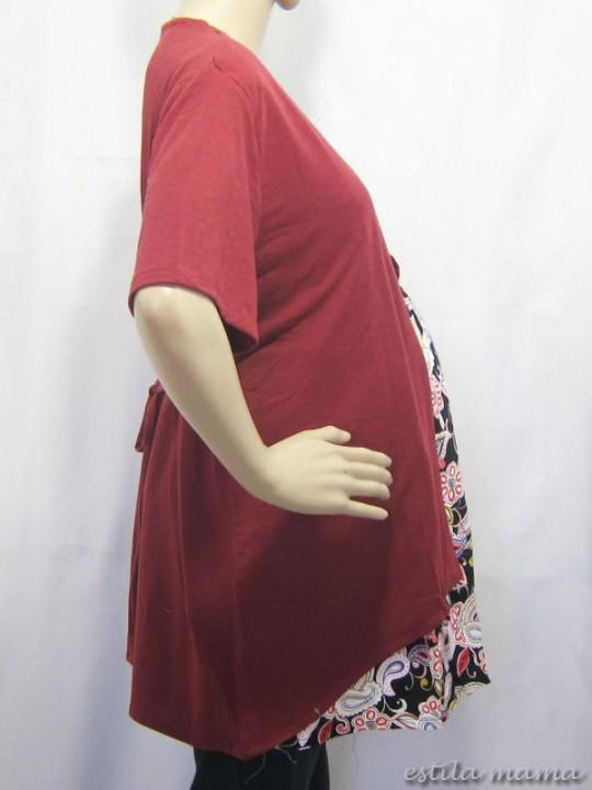 R24113 gb2 baju hamil menyusui marun