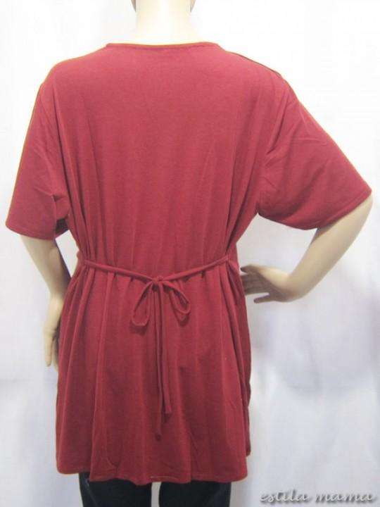 R24113 gb3 baju hamil menyusui marun