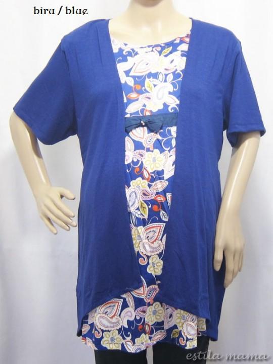 R24113 gb8 baju hamil menyusui biru