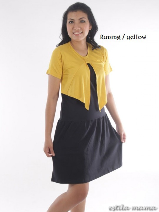 R3466 gb1 dress menyusui kuning