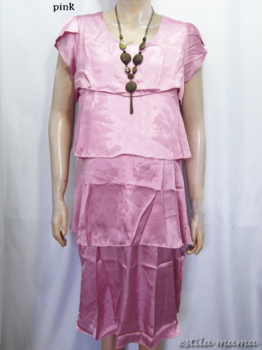 R3488 gb1 dres menyusui 2in1 pink