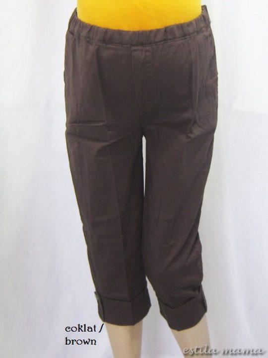 M7689 gb1 celana hamil pendek coklat
