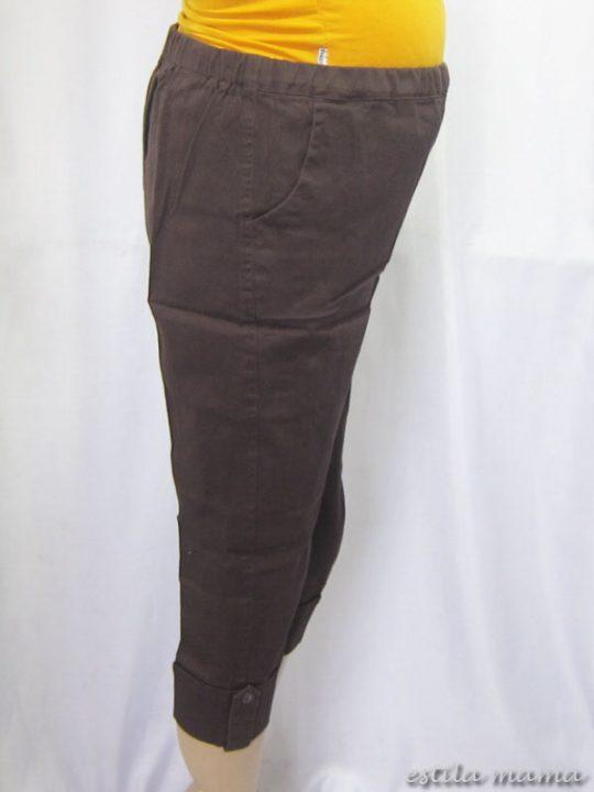 M7689 gb2 celana hamil pendek coklat