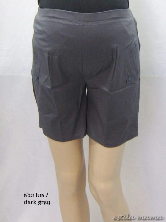M7684 gb1 celana hamil pendek abu tua