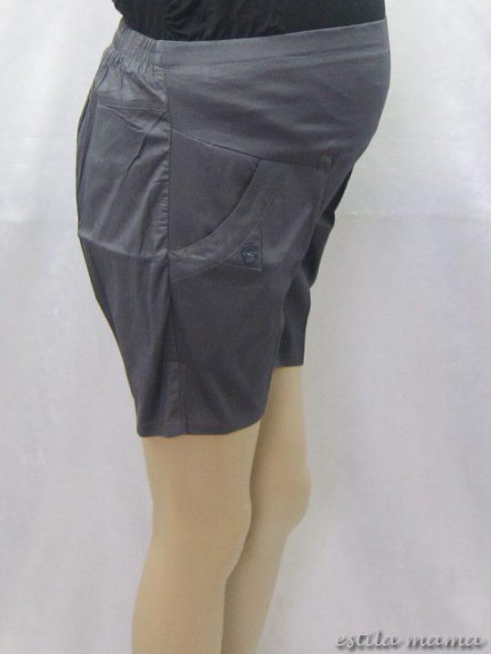 M7684 gb2 celana hamil pendek abu tua