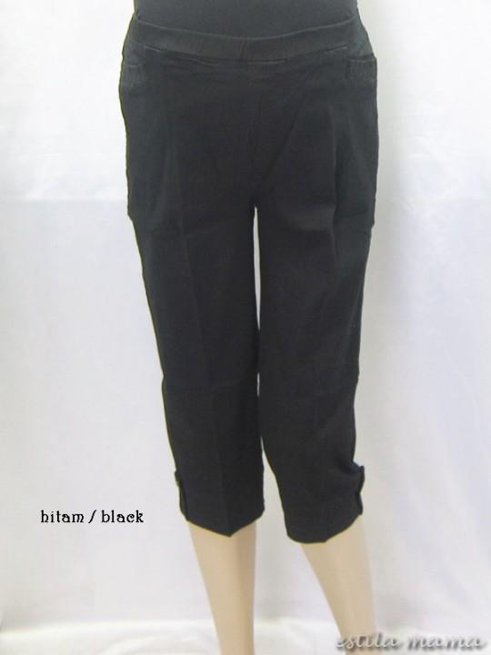 M7691 gb1 celana hamil pendek hitam