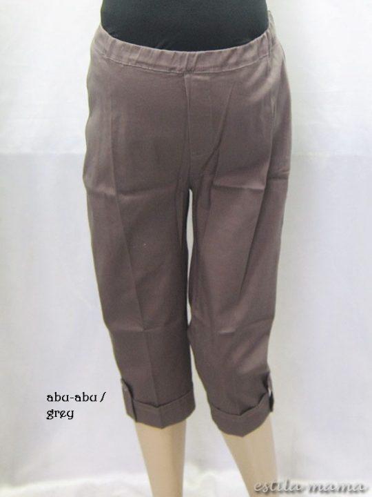 M7692 gb1 celana hamil pendekabu-abu