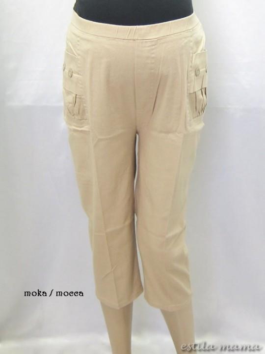 M7693 gb1 celana hamil pendek moka