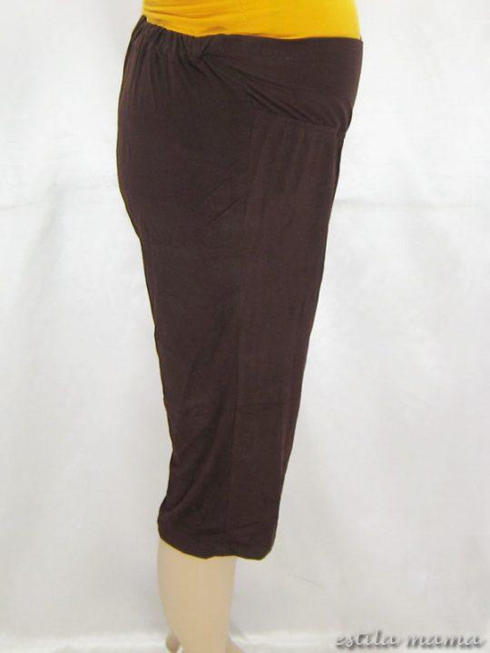 M8619 gb2 legging hamil pendek coklat tua