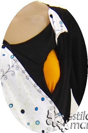 R25122 gb2 baju hamil menyusui lgn pjg biru