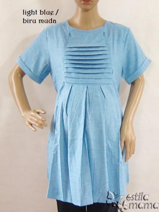 R24132 gb8 baju hamil menyusui lgn pdk biru