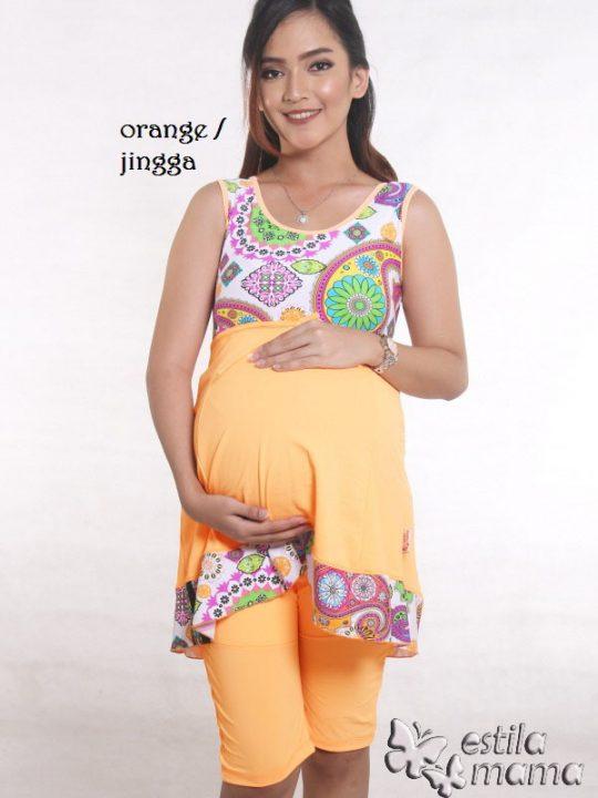 M0251 jingga gb1 baju renang hamil