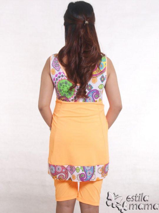 M0251 jingga gb3 baju renang hamil
