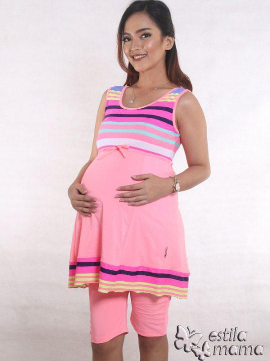 M0251 pink gb2 baju renang hamil