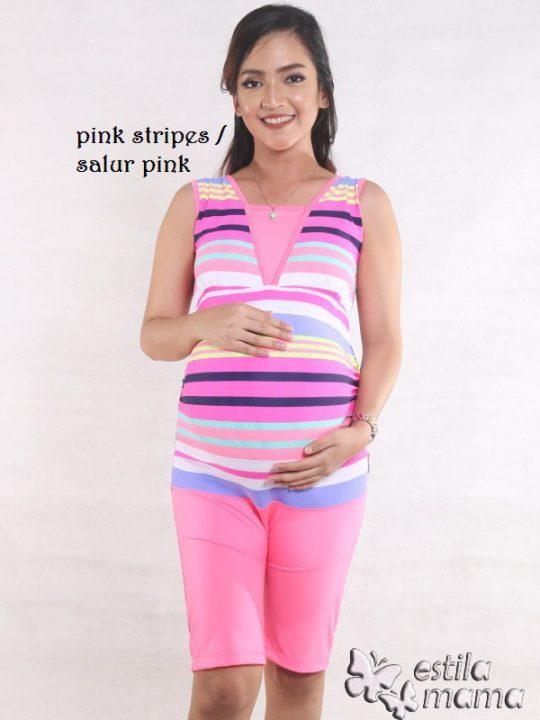 M0253 pink gb1 baju renang hamil
