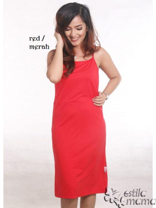 R0330 merah gb1 tankdress menyusui tali kecil