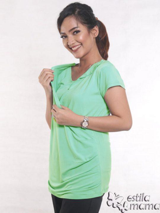 R24123 hijau mint gb3 baju hamil menyusui lgn pdk