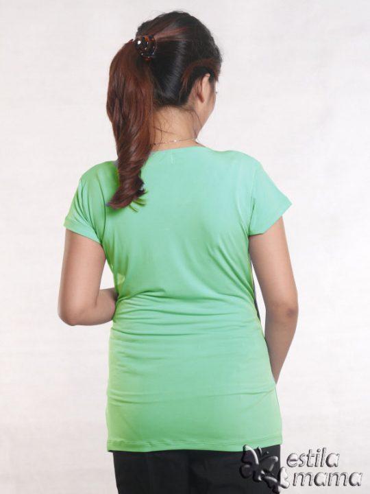 R24123 hijau mint gb4 baju hamil menyusui lgn pdk