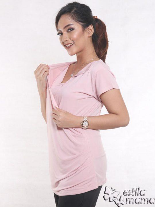 R24123 pink gb3 baju hamil menyusui lgn pdk