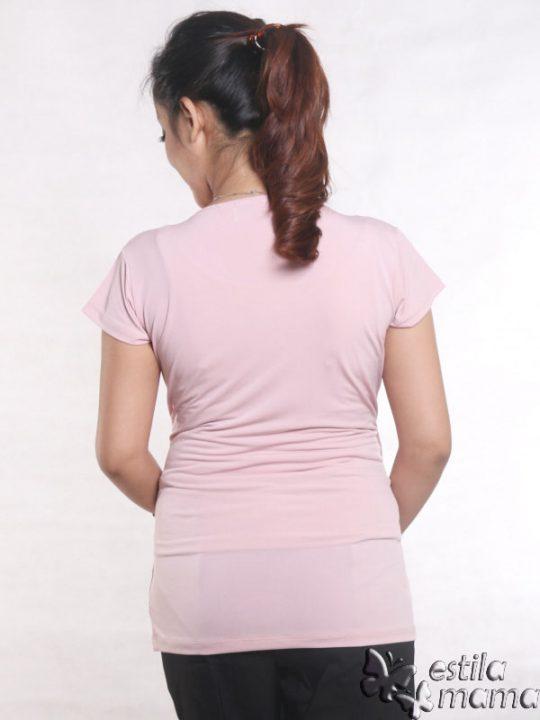 R24123 pink gb4 baju hamil menyusui lgn pdk