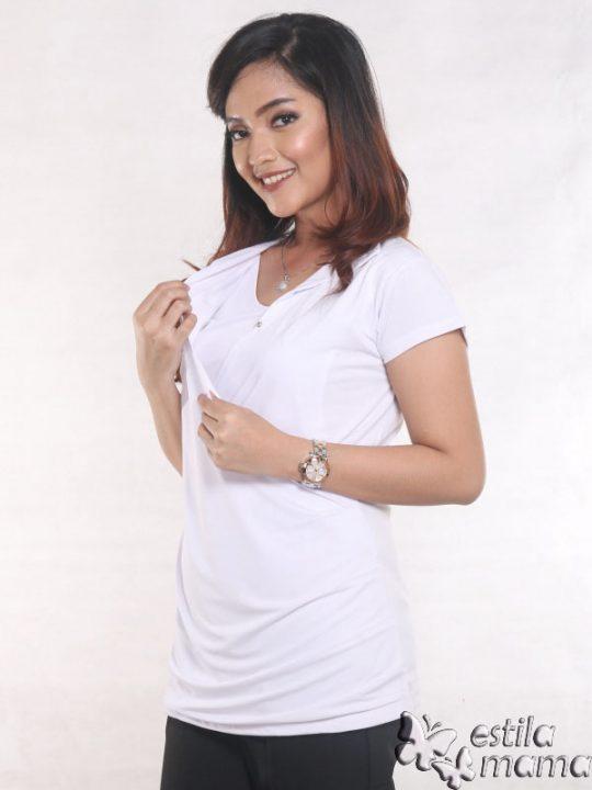 R24123 putih gb3 baju hamil menyusui lgn pdk