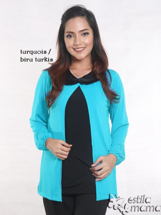 R2593 biru gb1 baju hamil lgn pjg