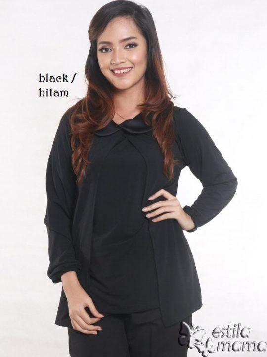 R2593 hitam gb1 baju hamil lgn pjg