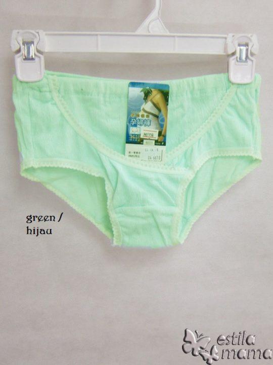 M0108 gb3 celana dalam hamil hijau