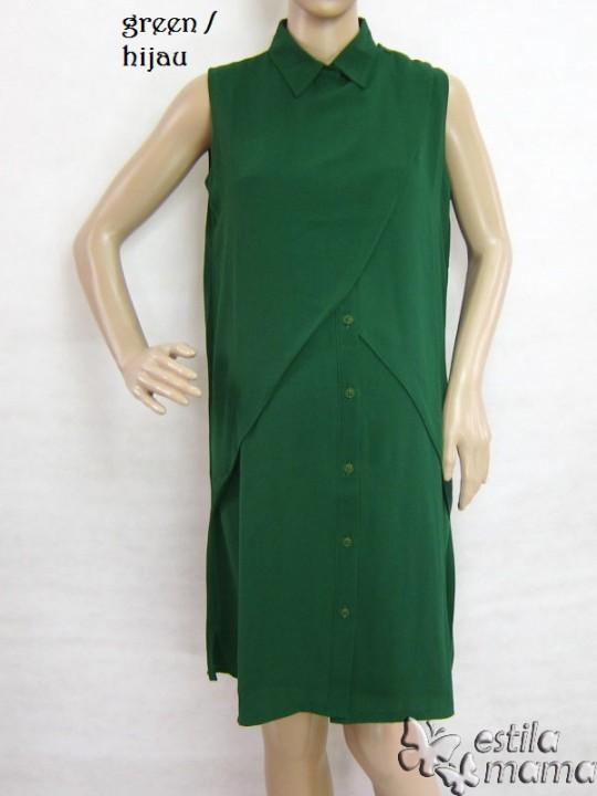 M3333 gb6 dress hamil tanpa lgn hijau
