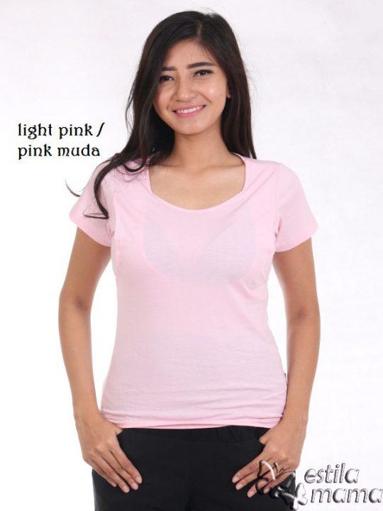 R0404 pink muda gb1 kaos menyusui lgn pdk